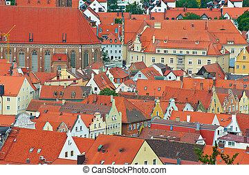 Landshut - Bird's Eye View on the Bavarian Town of Landshut,...