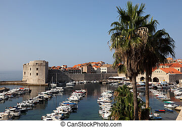 View of the historic Croatian town Dubrovnik - View of the...