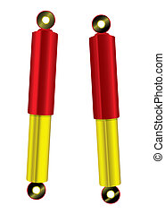 Shock absorber red gold - Upgrade red and gold bling shock...