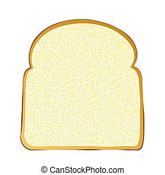 Slice of white bread - Single slice of wholemeal white bread...