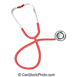 Doctors stethoscope - Red Doctors medical stethoscope for...