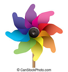 Kids windmill - Colourful childs windmill or pinwheel