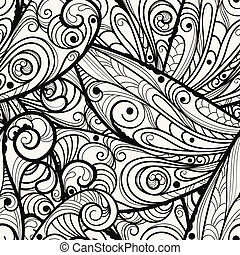 vector seamless beautiful monochrome pattern