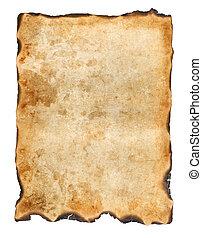 Vintage burnt paper background