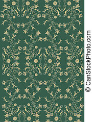 rococo pattern with gradient