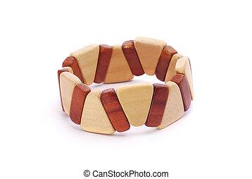 de madera, pulsera
