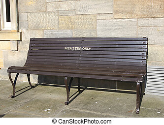 Members only bench at St Andrews golfclub
