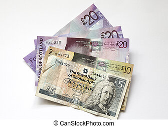 Scottish banknotes - Different banknotes from Scotland