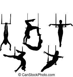 Trapeze silhouette - vector