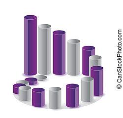 Unique business graph circle