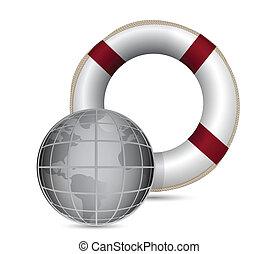 Global Rescue illustration design
