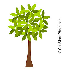 Tree illustration - Symbolic spring tree vector illustration
