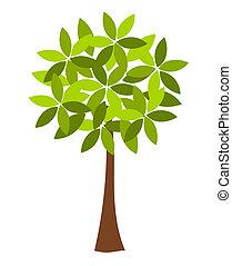 Tree illustration - Symbolic spring tree vector illustration
