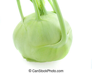 kohlrabi -  Head of kohlrabi isolated over white background