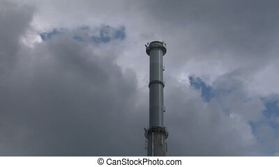 chimney 01 - Industrial plant smokestack