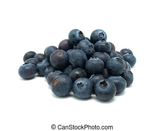 Bilberries berry over white background