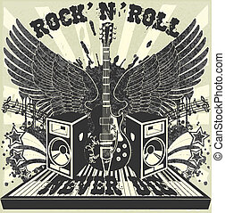 Rock n Roll never die - The vector image of Rock n Roll...