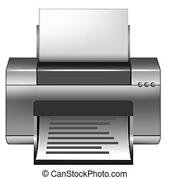 printer - illustration of a printing device