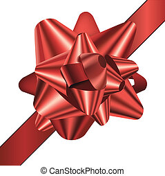 gift bow - detailed illustration of a gift bow