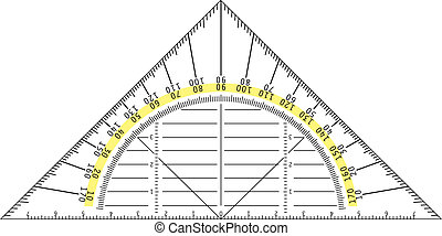 protractor - detailed illustration of a protractor, eps8...