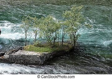 corriente, primavera, Fuerte, Noruega, torrente