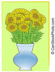 sunflower. Vector