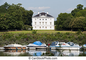 White house by the river Thames