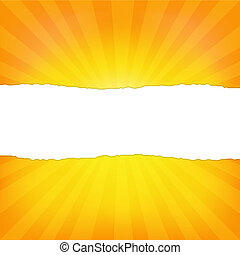 Sunburst Background With Paper And Beams