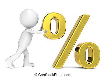 Percent symbol, Gold