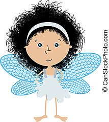 Little angel - Cute little angel over white