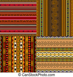 Decorative African patterns - Decorative traditional African...