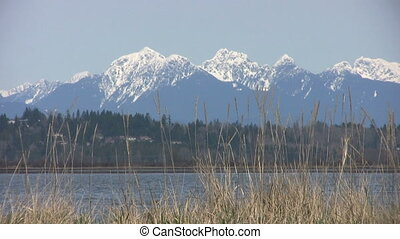 Majestic Mountains Of Vancouver - A shot of the majestic...