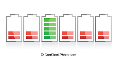 row of batteries illustration