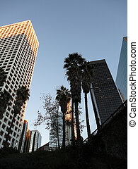 Downtown LA Skyscapers at Dusk