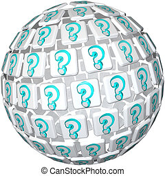 Question Mark Sphere - Ball of Confusion and Curiosity - A...