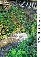 Bridge over troubled water - Arch supported bridge over a...