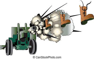 Gun - Na Artillery gun