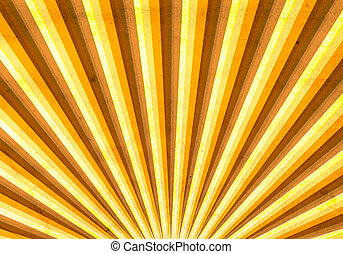 Vintage multicolor sunbeam on grunge paper background