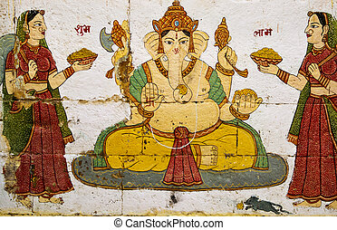 Lord Ganesha - Ganesh is the Hindu elephant-headed God.