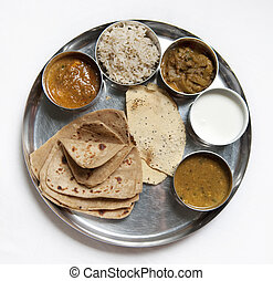 Thali Traditional Indian Meal - A thali is a selection of...