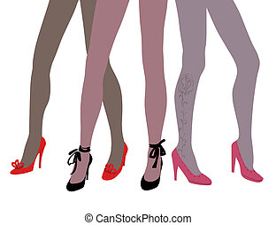 woman legs in fashion shoes