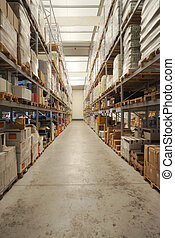 Beverage warehouse - Warehouse interior, classified...