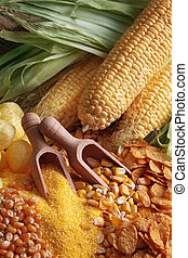 maize products - Still life with maize products