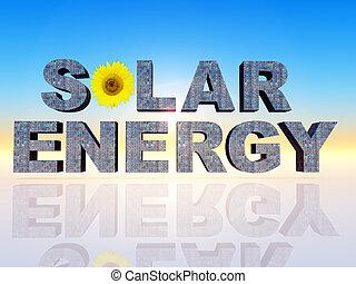 """solar energy - the word"""" solar energy """""""