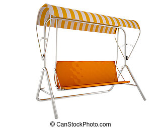 sunbed, isolated on a white background