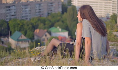 CLIP EDIT Young couple in love sitt