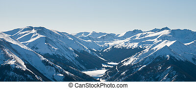 Snow Mountains - Snowcaped mountains in Berthoud Pass,...