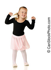 Darling Dancer - A pretty preschooler shaking to music in...