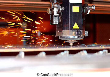 Industrial laser - Photo of the induastrial laser with...
