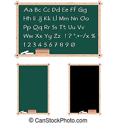 Chalkboards with copy space